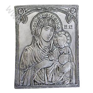 Икона посребрена Богородица Йерусалимска