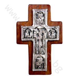 """Кръст """"Богоявление"""" - нагръден посребрен."""