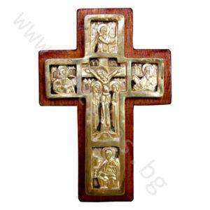 """Кръст """"Разпятие Христово"""" - нагръден позлатен"""