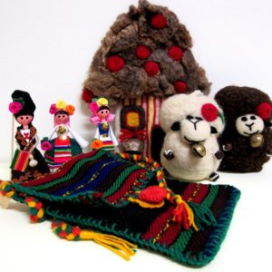 Souvenirs of wool and fabrics