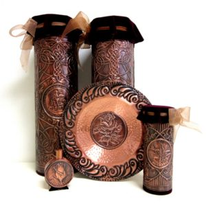 Souvenirs of metal - copper, brass, iron, steel