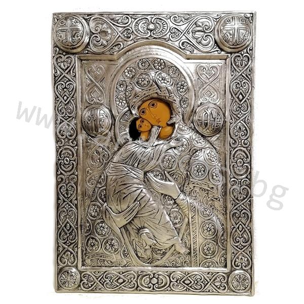 луксозна скъпа икона Богородица
