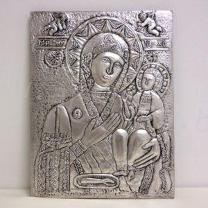 посребрена икона Богородица