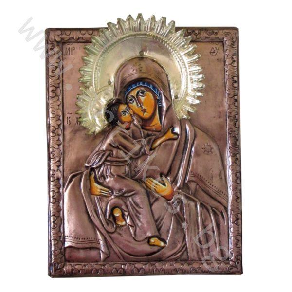 """Икона """"Св. Богородица"""" с нимб-меден обков"""