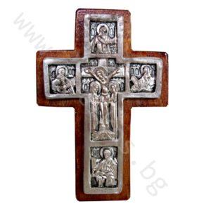 """Кръст """"Разпятие Христово"""" - нагръден посребрен"""