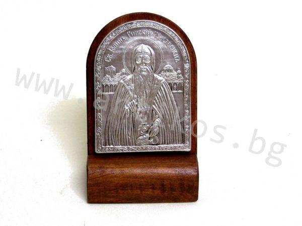 посребрена икона Св. Иван Рилски