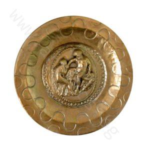 """Талера малка - """"Херакъл и Авге с трофей Немейския лъв"""" - позлатена."""