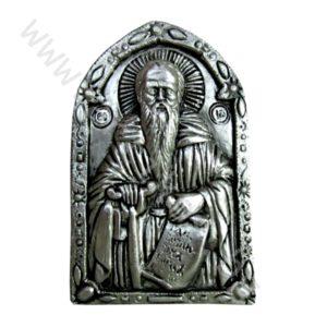 """Икона """"Св. Иван Рилски"""" посребрена."""
