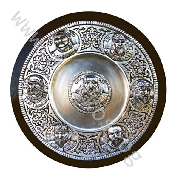 """Плакет-талера """"Велики български владетели - Първо българско царство"""""""