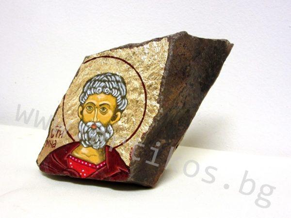 икона Св. Мина камък