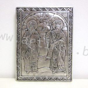 посребрена икона Св. Св. Кирил и Методий