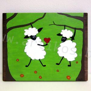 картина овца