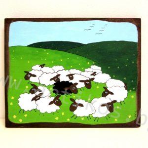 картина черна овца