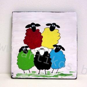 картина овце