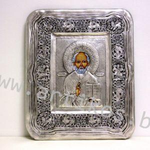 посребрена икона Св. Никола