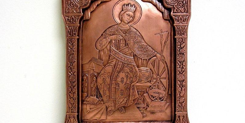 Sv. Ekaterina - medna ikona - blog