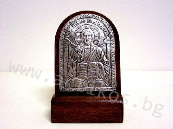 посребрена икона Иисус Христос