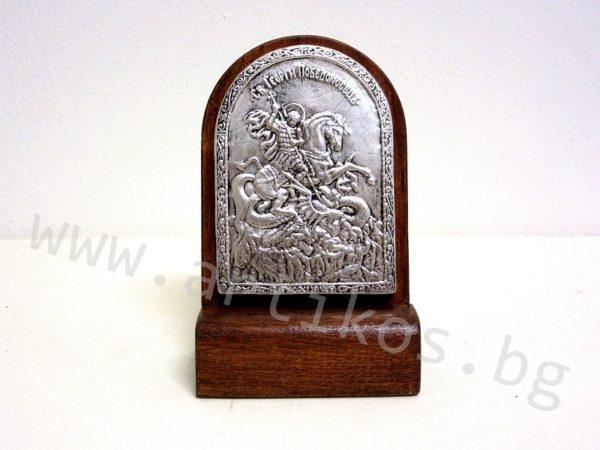 посребрена икона Св. Георги