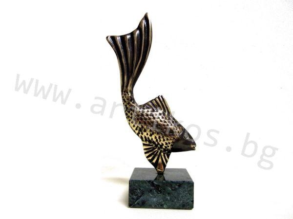 статуетка бронзова риба
