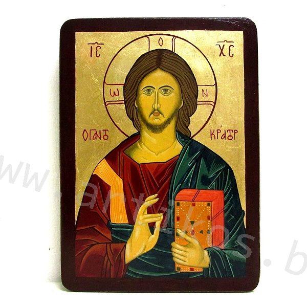 рисувана икона Иисус Христос