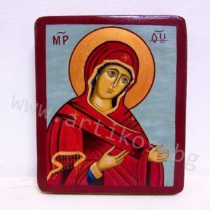 рисувана икона Св. Богородица