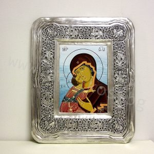 икона Богородица посребрен обков